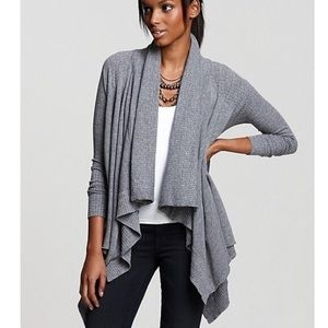 Splendid Fleece Lined Drape Open Front Cardigan XS